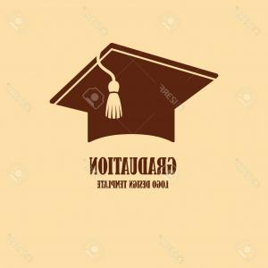 Graduate With Degree Vector: Photostock Vector Graduation Cap Symbol Icon Of Master Degree Cap Template Vector