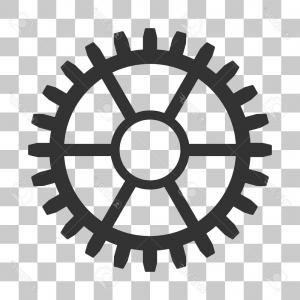 Vector Mechanical Clock Wheels: Stock Illustration Wrist Watch Sign Icon