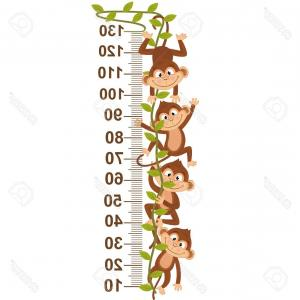 Vine Vector Graphics: Animal Outline For Monkey On Vine