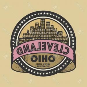 Ohio Vector Art: Photostock Vector Grunge Rubber Stamp Or Label With Name Of Cleveland Ohio Vector Illustration