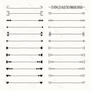 Text Hand Drawn Vector Line: Photostock Vector Hand Drawn Vector Line Border Set And Scribble Design Element Valentine Day Vintage Romantic Pattern