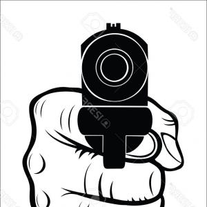 Hand Vector Pistol: Photostock Vector Hand Pointing With The Gun At You