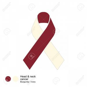 Cross And Ribbon Vector: Photostock Vector Head And Neck Cancer Ribbon Vector