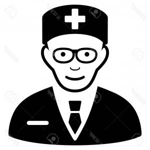 Physician Vector: Cartoon Sad Physician Vector Expression