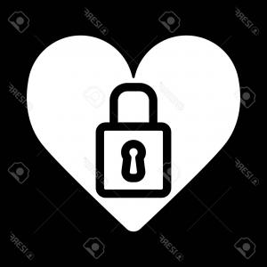 Heart Lock Vector: Photostock Vector Vector Vintage Lock With A Key