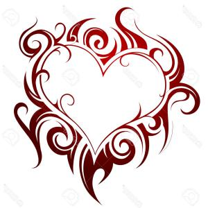 Love Heart Swirl Vector: Royalty Free Stock Photography Swirl Heart Beautiful Floral Pattern Vector Illustration Image