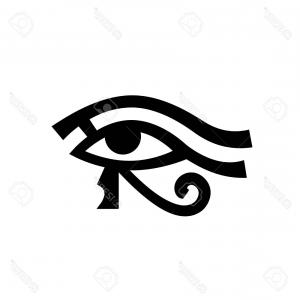 Egyptian Eye Vector: Photostock Vector Horus Eye Wadjet Eye Of Ra Antique Egyptian Hieroglyphic Mystical Sign