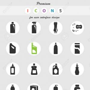 Vector Household Chemicals: Photostock Vector Household Chemicals Vector Icons For User Interface Design