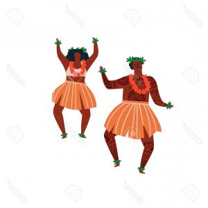 Hawaiian Dancer Vector Images: Royalty Free Stock Image Hula Dancer Man Woman Vector Illustration Image