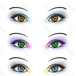 Vector Illustration Eyes Makeup: Photostock Vector Eye Makeup Closed Eyes With Color Eyelashes Eyeliner And Mascara Vector Illustration