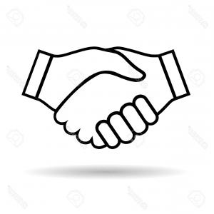 Handshake Vector Art: Photostock Vector Illustration Icon Handshake Isolated On White Background
