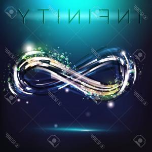 Decorative Infinity Symbol Vector: Abstract Glowing Infinity Symbol Vector Design Any Decoration Creative Concept Image