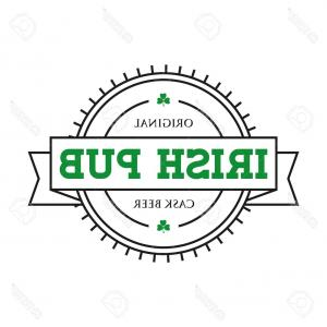 Irish Pub Logo Vector: Photostock Vector Irish Pub Vintage Stamp Vector