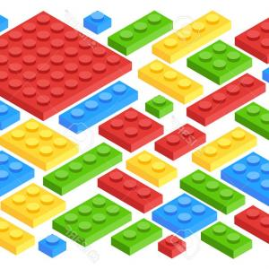 Vector Block Play: Photostock Vector Isometric Plastic Building Blocks And Tiles Toy Kids Bricks Vector Set Toy Block Construction Illust
