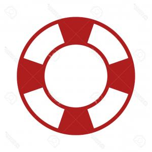 Old Lifesaver Stripe Vectors: Old Vintage Lifebuoy Red Stripes Isolated