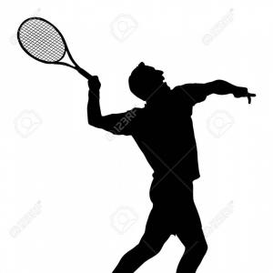 Play Vectorman: Photostock Vector Man Tennis Player Vector Silhouette Isolated On White Background Sport Tennis Silhouette Isolated
