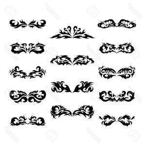 Polynesian Tribal Designs Vector: Photostock Vector Maori Tribal Tattoo Set Of Different Vector Tribal Tattoo In Polynesian Style Celtic Ornaments In Tr