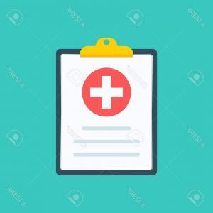 Vector Medical Clipboard: Photostock Vector Medical Clipboard Clinical Record Prescription Claim Medical Check Marks Report Health Insurance Con
