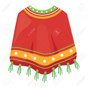 Poncho Vector Art: Photostock Vector Mexican Poncho Icon Over White Background Colorful Design Vector Illustration