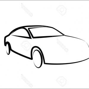Modern Car Silhouette Vector: Photostock Vector Modern Car Silhouette Automobile Illustration