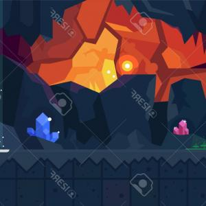 Cave Vector: Cave Icon Isometric Illustration Vector Web