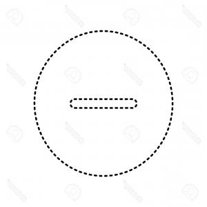 Black And White Negative Vector: Photostock Vector Negative Symbol Illustration Minus Sign Vector Black Dashed Icon On White Background Isolated