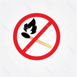 Vector Do Not: Photostock Vector No Bonfire Sign Vector Fire Sign Do Not Fire Area
