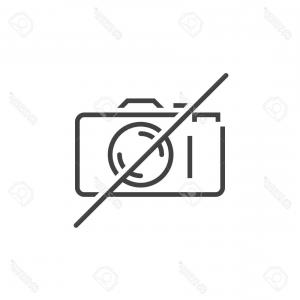 Camera Outline Vector Graphic: Camera Outline Icon Isolated Vector
