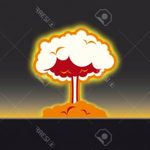 Atomic Vector Coud: Photostock Vector Atomic Blast On White Background Is Insulated