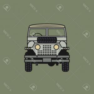 Vector Drawings Of Land Rover: Photostock Vector Off Road Vehicle Vector Illustration