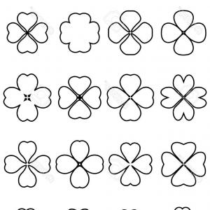 Four Leaf Clover Vector Art Black And White: Stock Illustration Four Leaf Clover Vector Lucky St Patrick S Day Illustration Image
