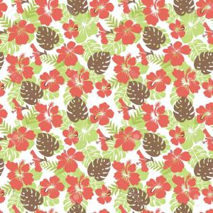Hawaiian Pattern Vector: Aloha Hawaiian Shirt Seamless Background Pattern