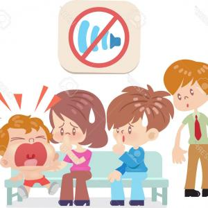 Noise With Pointing Vector: Stock Illustration Opposite Adjectives Noisy Quiet Illustration Image