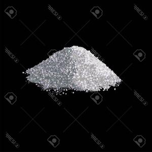 Vector Black And White Salt: Photostock Vector Pile Of Rock Salt Isolated On The Black Background Vector Illustration
