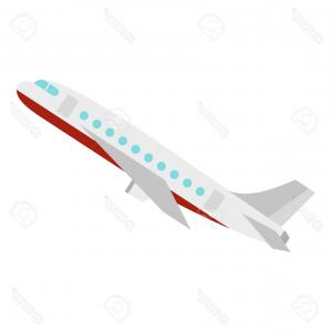 Plane In The Vector V: Photostock Vector Plane Icon Flat Illustration Of Plane Vector Icon For Web Design