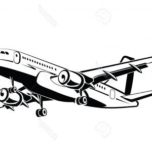 Vector Airplane Airplanes: Airplane Top View Icon Aircraft Passenger Plane Vector
