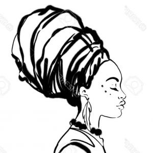 Africa Woman Vector: African Women In Traditional Dress Gm