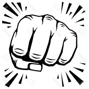 Hand Vector Illustration: Photostock Vector Punching Fist Hand Vector Illustration Human Protest Symbol Or Strong Strike
