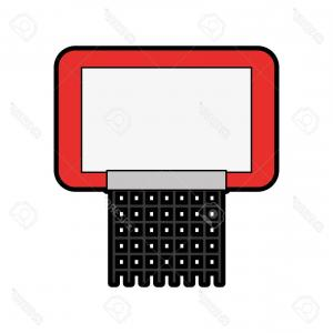 Basketball Vector Graphic Designs: Photostock Vector Red Basketball Hoop Cartoon Vector Graphic Design