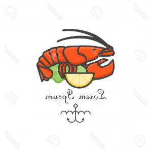 Lobster Clip Art Vector: Abstract Silhouette Of Lobster Vector Clipart