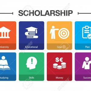 Toa Icon Vector: Photostock Vector Scholarship Infographic Icon Set