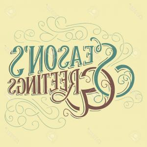 Season S Greetings Vector Free: Royalty Free Stock Images Seasons Greetings Vector Version My Own Calligraphy Image