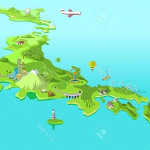Japan Map Vector: Stock Illustration Japan Map Vector High Detailed