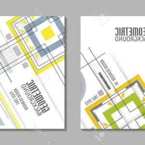 Architecture Sheet Vector: Abstract A Brochure Cover Design Template