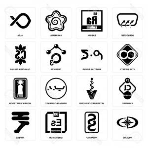 Egyptian Caduceus Vector: Photostock Vector Set Of Simple Editable Icons Such As Rupees Einsteinium Paragraf Polaris Women S Restroom Defrost