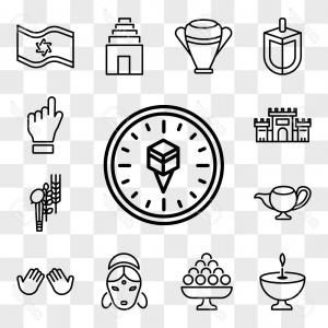 Dua Hands Vector: Photostock Vector Set Of Transparent Editable Icons Such As Qibla Dua Hands Hindu Laddu Religion Four Species Genie