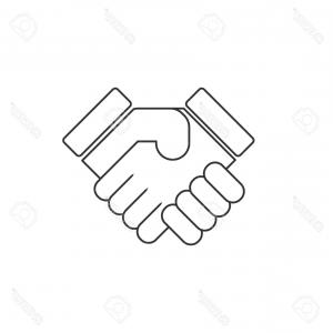 Handshake Vector Art: Handshake Vector Line Icon Gm