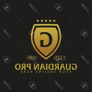Guardian Vector Logo: Photostock Vector Shield Logo Protection Company Security Guardian Vector Illustration