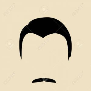 Mustache Face Vector: April Fools Cartoon Face With Funny Glasses And Mustache Gm