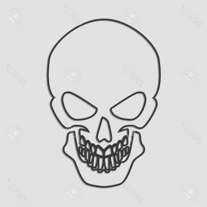 Line Drawings Simple Skull Vector: Photostock Vector Simple Line Art Of A Human Skull